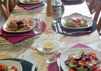 La cuina a Cal Vilanova - taula parada