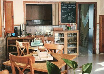 La cuina a Cal Vilanova - el menjador